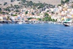 Symi-Insel im Ägäischen Meer Stockbilder
