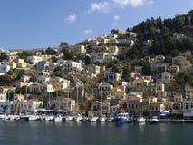 Symi Inselansicht, Griechenland Stockfoto