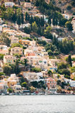 Symi Island. In greece architecture harbor village Stock Images