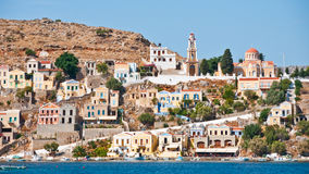 Symi Island. In greece architecture harbor village Royalty Free Stock Images