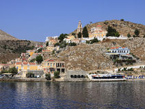 Symi Island in Greece. Near Turkey Stock Image