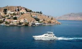 Symi island Greece at the Aegean sea Stock Photography