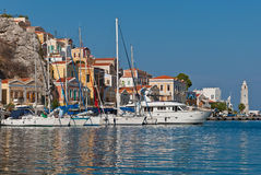 Symi Island, Greece, Dodecanese. View of Symi Island, Greece, Dodecanese. Mediterranean sea Royalty Free Stock Image