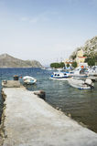 Symi island harbor Royalty Free Stock Photo