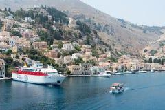 Symi island harbor  Greece Royalty Free Stock Photography