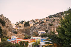 Symi island houses Stock Images