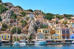 Symi island houses Stock Images