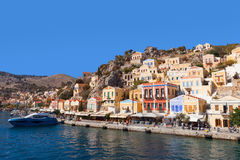 Symi island - Image of Colorful houses Stock Images