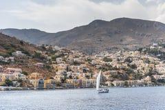 Symi La Grecia fotografia stock libera da diritti