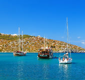 Symi Simi island , Dodecanese, Greece on June 3, 2015 Stock Photos