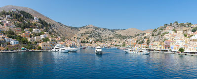 Symi / Simi Island panorama Stock Images