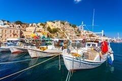 Symi stad Grekland Royaltyfria Foton