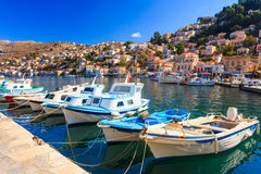 Symi Town Greece Stock Image