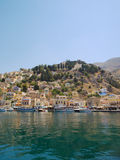 Symi town waterfront Stock Photo