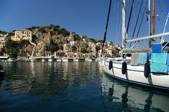 Symi village on island of Symi Stock Photo
