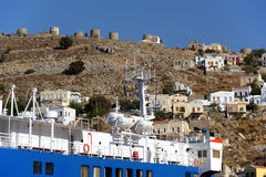 Symi village on island of Symi Stock Images