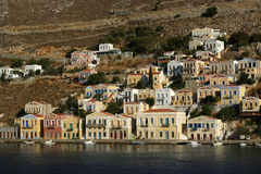 Symi village on island of Symi Royalty Free Stock Images