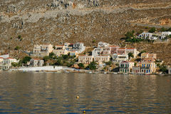Symi village on island of Symi Royalty Free Stock Photos