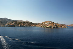 Symi village on island of Symi Royalty Free Stock Photography