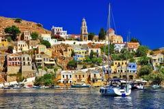 Symi wyspa, Dodecanese obrazy royalty free