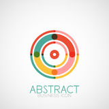Symmetric abstract geometric shape. Business symbol or logo design, loop Royalty Free Stock Images