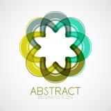Symmetric abstract geometric shape Stock Photo