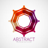 Symmetric abstract geometric shape Stock Images