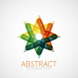 Symmetric abstract geometric shape Stock Photo