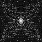 Symmetric abstrakta srebra kwiat, bezszwowi cienie popielaty tło Obraz Stock