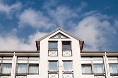 Symmetric apartment building Stock Photography