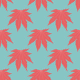 The symmetric background. Red leaves Stock Photo