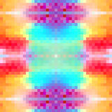 Symmetric background of squares. Abstract colorful symmetric background of squares. Vector illustration Royalty Free Stock Photos