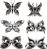 Symmetric butterfly tattoos Stock Images