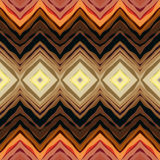 Symmetric chevrons in tribal style Stock Images