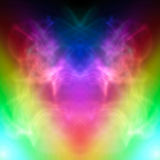 Symmetric colorful smoke effect Royalty Free Stock Photography