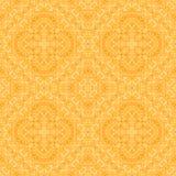 Symmetric design - seamless pattern. Orange repeating symmetric design - seamless pattern Stock Image
