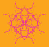 Symmetric, floral pattern Royalty Free Stock Images