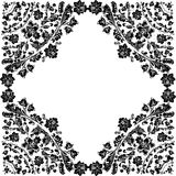 Symmetric frame with curled foliage Stock Images