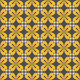 Symmetric geometric floral pattern Stock Images