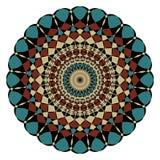 Symmetric geometric rosette in art deco style Stock Image