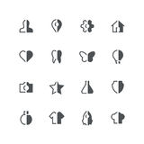 Symmetric half colored icons Royalty Free Stock Images
