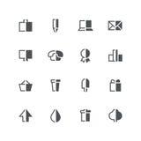 Symmetric half colored icons 2 Stock Image