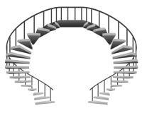 Symmetric Isolated Circular Staircase Circuit Royalty Free Stock Photos