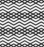 Symmetric monochrome textile endless pattern with rhombs Royalty Free Stock Photography