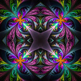 Symmetric multicolored fractal tracery. Collection - frosty patt Stock Photography