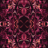 Symmetric ornamental seamless pattern in violet colors Royalty Free Stock Photography