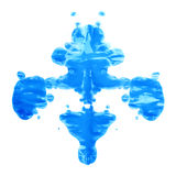 Symmetric paint blot. Symmetric abstract paint blot as in a Rorschach test isolated over the white background Stock Images
