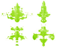 Symmetric paint blot Stock Photos