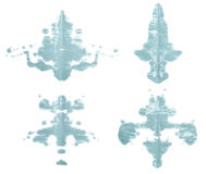 Symmetric paint blot Stock Photos