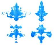 Symmetric paint blot Stock Image